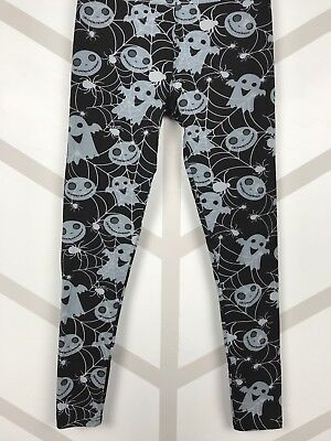 Halloween Ghosts Webs Skellington Yoga Waist One Size Leggings OS FREE SHIPPING