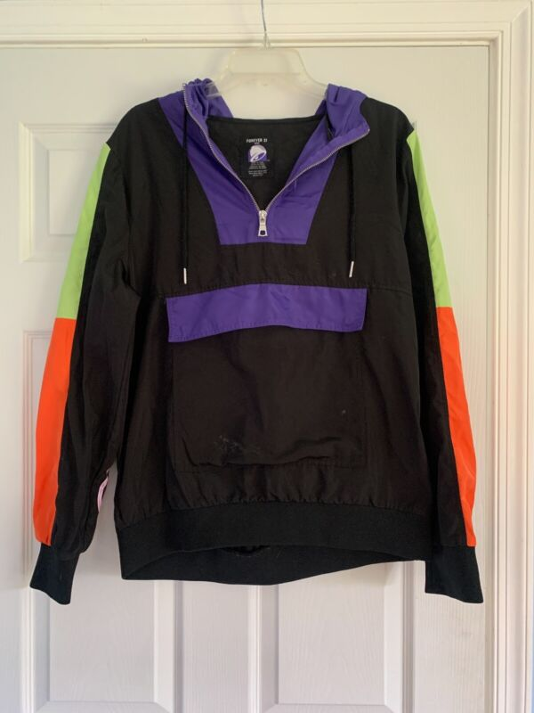 Taco Bell x Forever 21 one time release Anorak Jacket Purple Hood