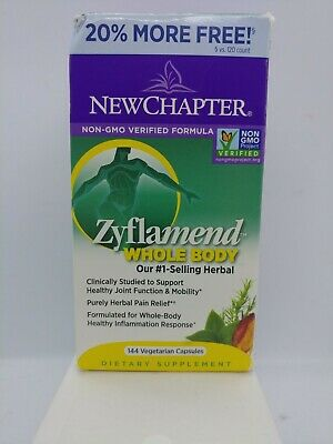 New Chapter Zyflamend Whole Body - 144 Veg Capsules, Exp 12/2021 for sale  Shipping to South Africa