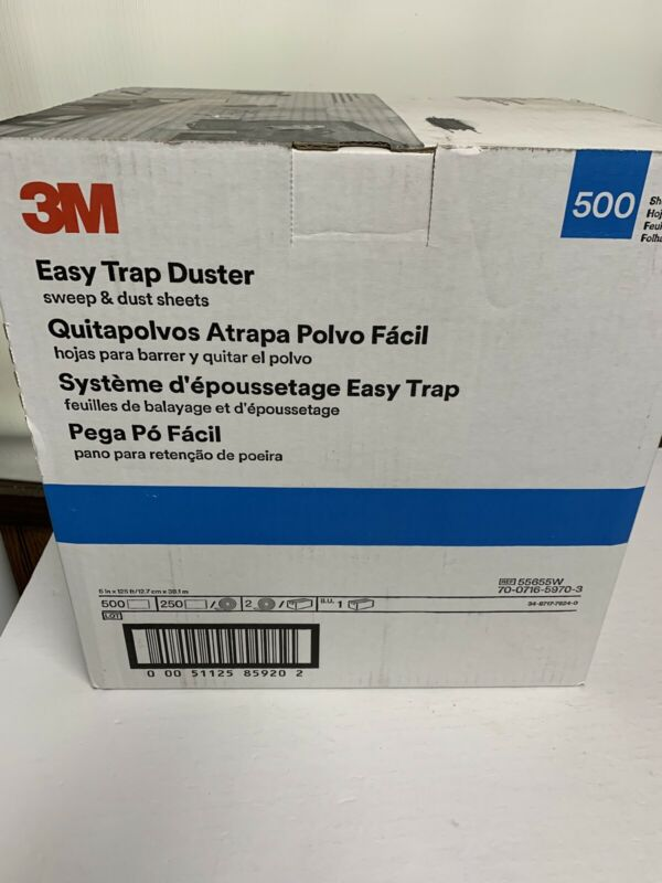 "3M Easy Trap Duster Sweep And Dust Sheets, 5"" x 6"" x 125"