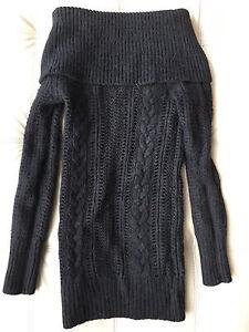 CLUB MONACO alpaca merino wool black knit sweater XS