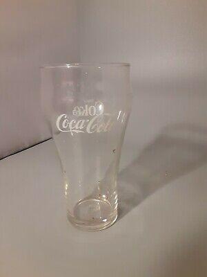 Vintage 1970's White Logo 16oz. Enjoy Coca-Cola Drinking Glass