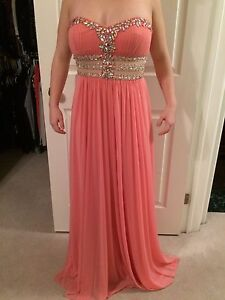 Coral prom  /. formal dress