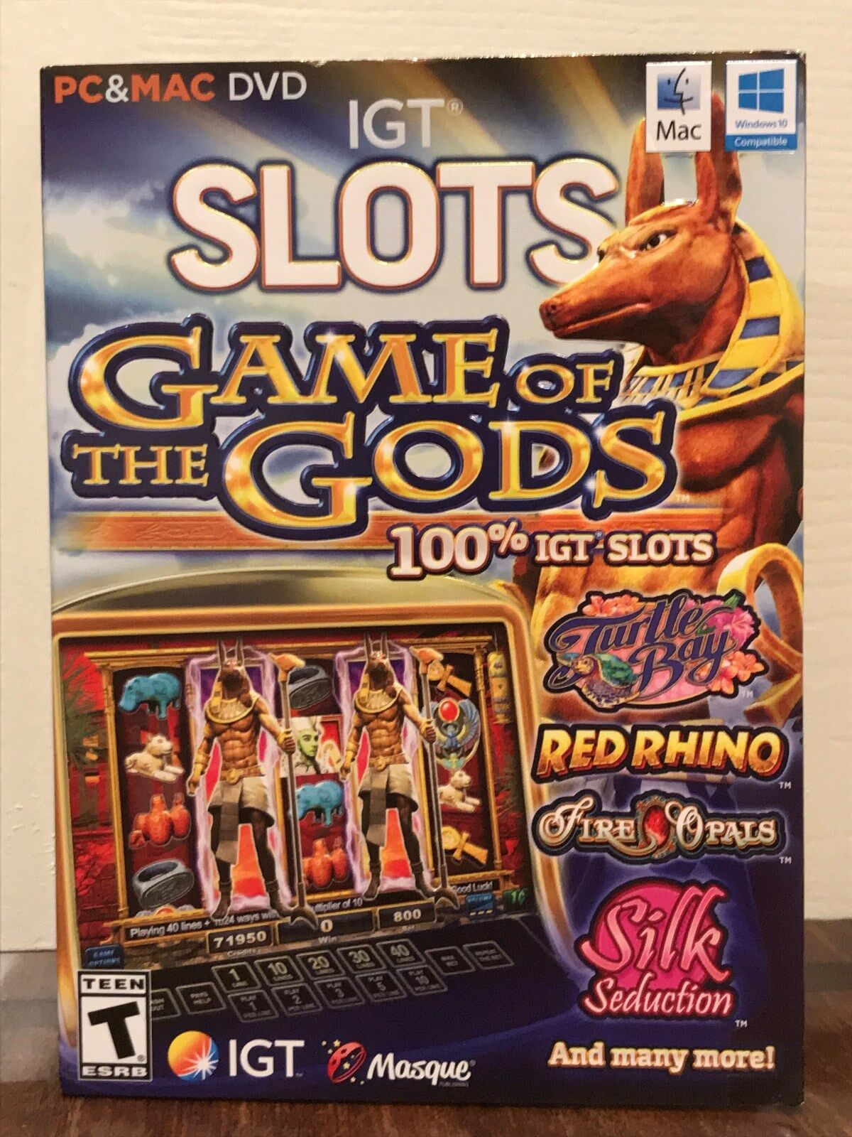Computer Games - game of the gods --- collection of 15 igt slots casino computer games --- new