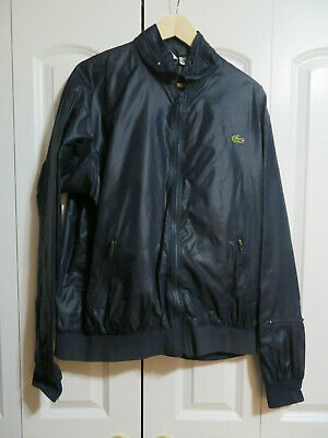 Lacoste Club Mens Jacket Windbreaker XL Dark Blue