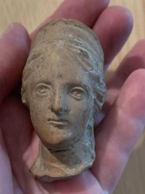 Ancient Ceramic Bust ~ Rare! Goddess Roman? Greek? 1 Of 3 Listed Authentic!