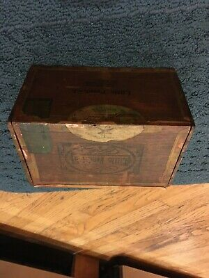 Antique 1920's Little Fendrick Wooden Cigar Box Evansville Indiana