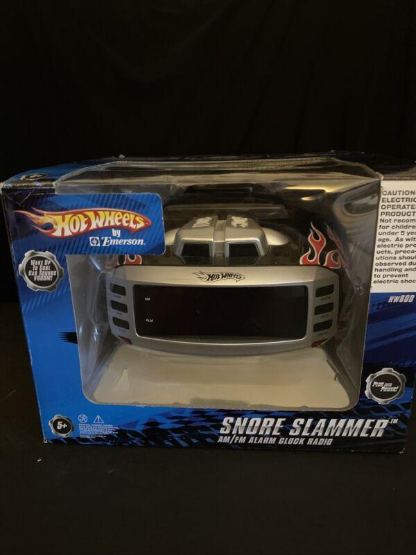 Hot Wheels Snore Slammer Alarm Clock AM/FM Radio