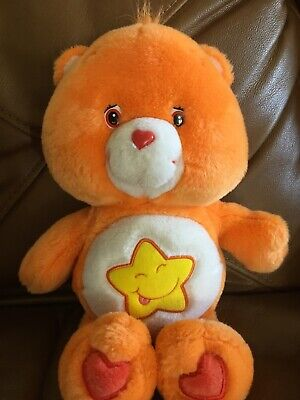 Lot Bear Plush - Carebear Plush Laugh-a-Lot Bear Care Bear 2003 12 Inches Star Orange Stuffed