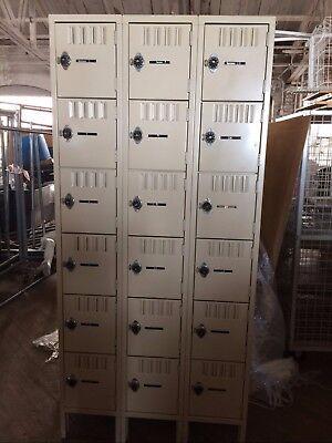 Metal Lockers Lot 54 Used Storage Employee School Spa Gym Store Backroom Pallet