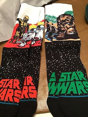 (2) Star Wars Return of the Jedi Men's Stance Socks Size 9-12 Large-NEW