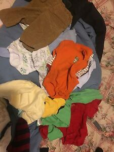Mixture of baby boy clothes