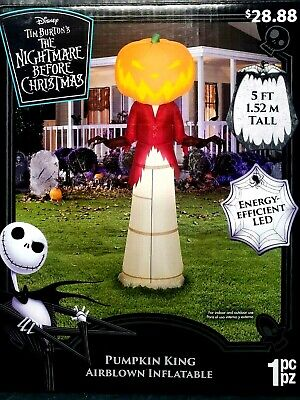 Nightmare Before Christmas Pumpkin King Halloween Airblown Inflatable Yard Decor