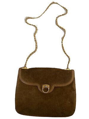 RARE Gucci Suede Leather Soho Purse GG Logo Crossbody Shoulder Bag Vintage 70s
