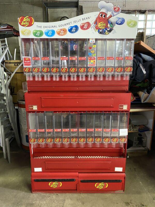 Jelly Bean Candy Self Serve Display, 24 Flavor Dispenser