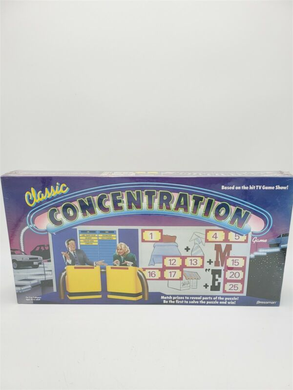 Vintage 1988 Classic Concentration Board Game Brand New Sealed