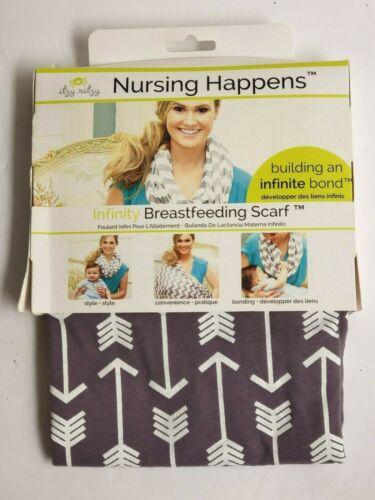 Itzy Ritzy Nursing Happens Infinity Breastfeeding Scarf Swift Arrows Print New