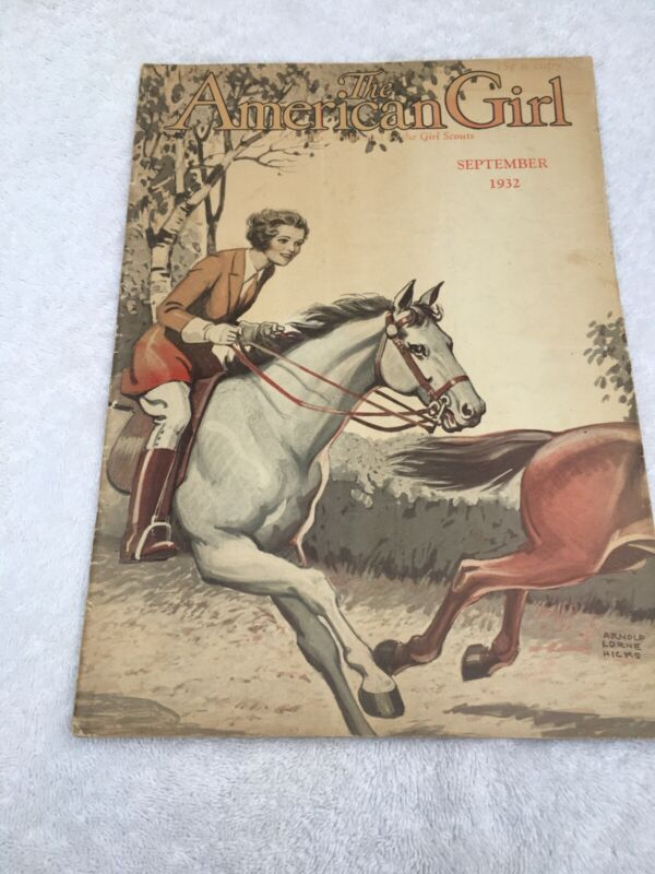 Vintage The American Girl Sept 1932 Girl Scouts Magazine