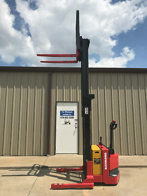 2008 Raymond Rss40 Walk Behind Forklift - Very Nice Double 128 3750lb - 800 Hrs