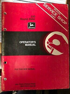 John Deere Manual Used 330 Round Baler Ome75043