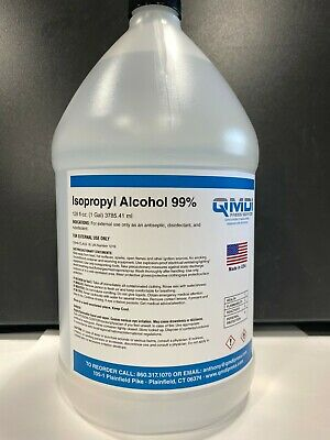 Isopropyl Alcohol 99 1 Gallon 128 Fluid Oz. 3785.41 Ml