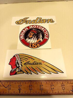 Vintage Indian Motorcycle Decals Stickers