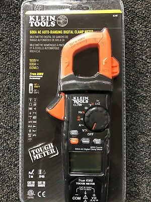Klein Tools Cl700 600 Amp Ac True Rms Auto-ranging Digital Clamp Meter With Temp