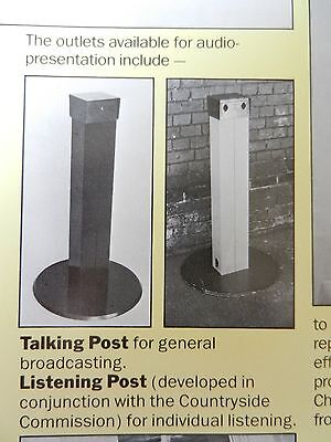 Reditronics Listening/Talking posts, Qty metal work & parts to construct posts