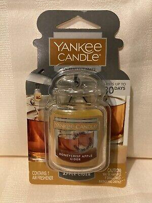 Yankee Candle Car Jar Ultimate Air Freshener. Honeycrisp Apple Cider.