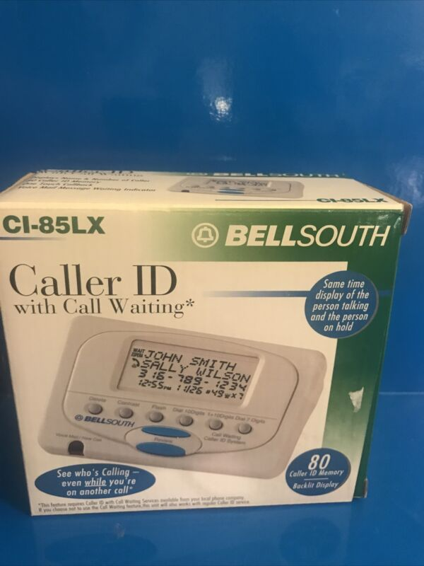 Bell South CI-85LX Caller ID With Call Waiting New in box 80 Name Number Memory