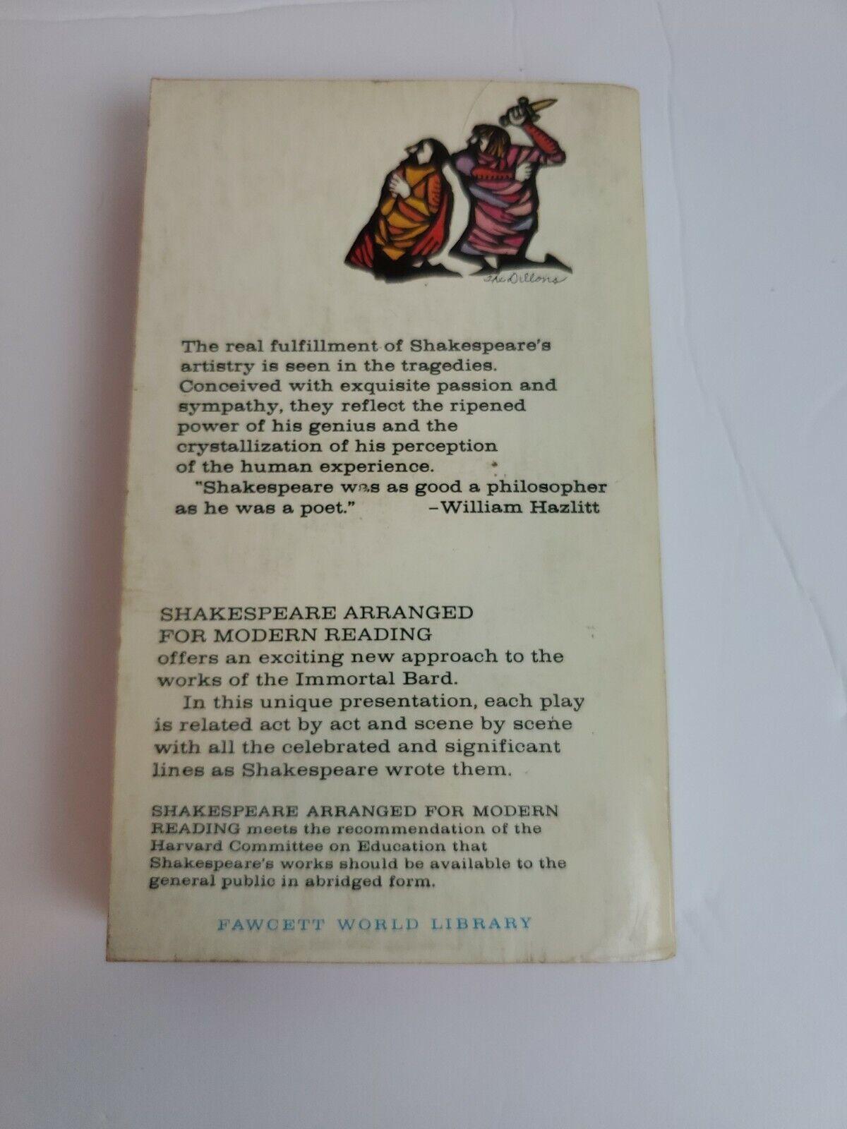 Shakespeare Arranged For Modern Reading Volume 2 Tragedies  - $1.15