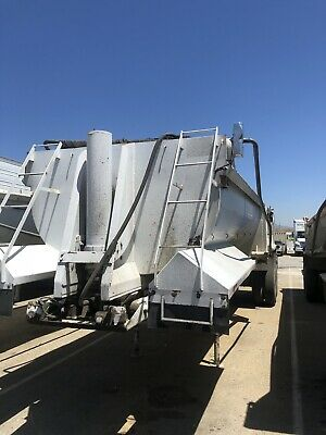 2000 Western Low Side End Dump Trailer 32 With Air Gate Electric Tarp