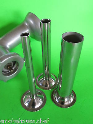 3 Set Sausage Stuffer Tubes For Vintage Kitchenaid Mixer Meat Grinder Chopper
