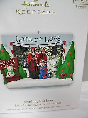 (HALLMARK 2012 Sending You Love Magic Photo Holder Ornament NEW IN BOX)