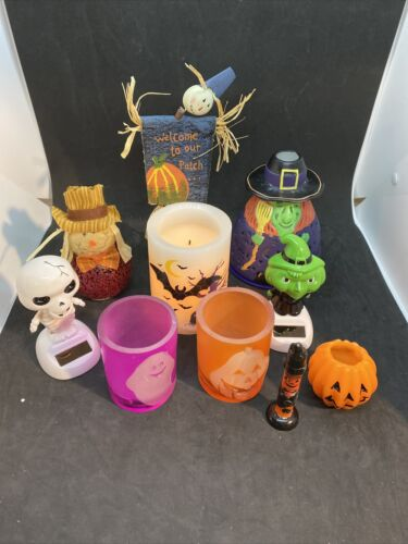 Halloween decorations lot-10 Pieces, Including 3 Frameless Candles &2 Candles+++