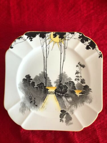 """Shelley Tea Plate """"Sunrise and Tall Trees"""" : Pattern 11678 pristine condition"""