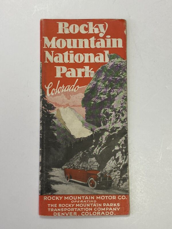 Vintage Brochure of Rocky Mountain National Park Colorado Tour Guide Map