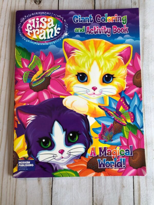 New Lisa Frank Coloring And Activity Book A Magical World Cats