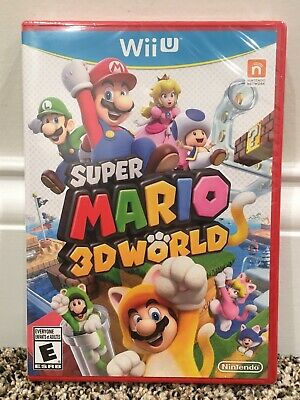 Super Mario 3D World Nintendo Wii U ~ Not For Resale Edition ~ Brand New Sealed