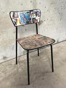 Comic book finished dining / occasional chairs - craft project Chippendale Inner Sydney Preview