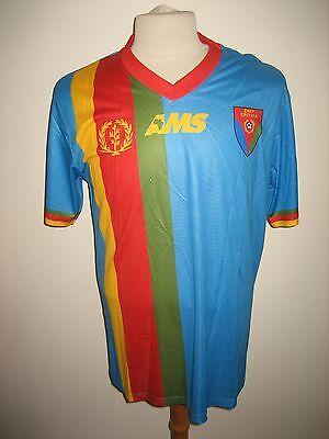 Eritrea away rare CAF Africa football shirt soccer jersey maillot trikot size M image