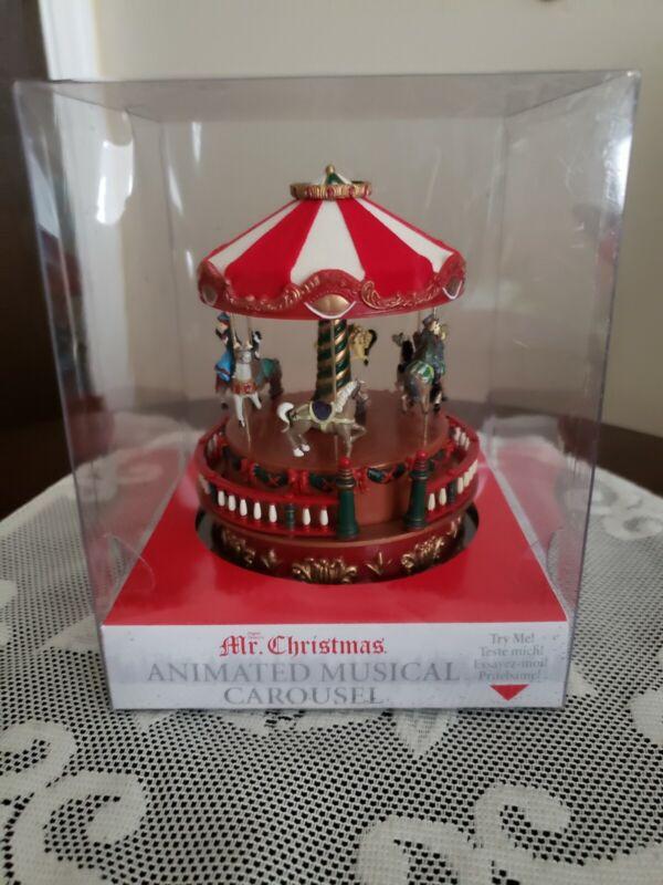 Mr. Christmas Mini Carnival Animated Musical Carousel NEW IN BOX