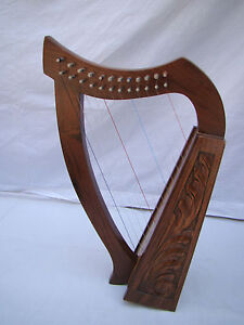 about 12 string irish baby harp made with finest rosewood By Euro Era