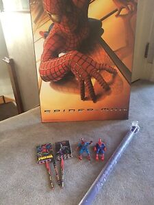 Spider-man toys, posters & other items