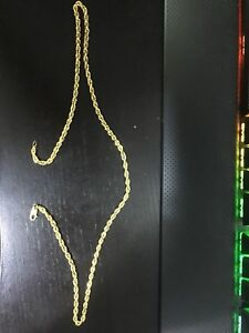 10K Gold Rope Chain 4MM, 22""