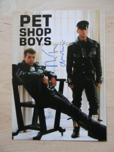 Pet Shop Boys Autogramme signed A4 Magazinbild
