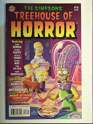 Mars Attacks Spoof, Bongo Comics Marge Attacks Cards And Graphics Sheet. NM/MINT