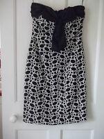 Gina Bacconi Size 8. Dress. Black & White. Designer Wedding Outfit - gina bacconi - ebay.co.uk