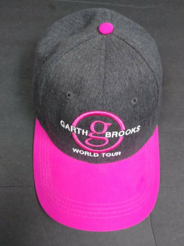 Garth Brooks World Tour Ladies Adjustable Hat. Never Worn. ChuckBooks🦈Grey/Pink