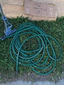 Free hose, toilet seat and mop frame